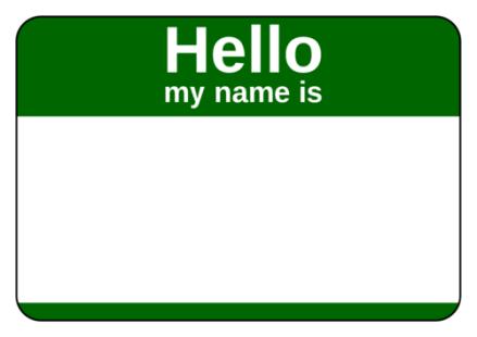 green-name-tag